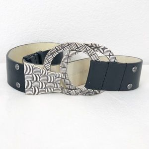 Chico's Leather Belt Silver BuckleS/M